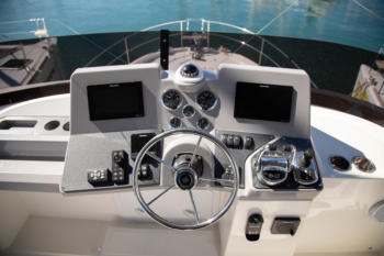 Swift Trawler 47 cockpit